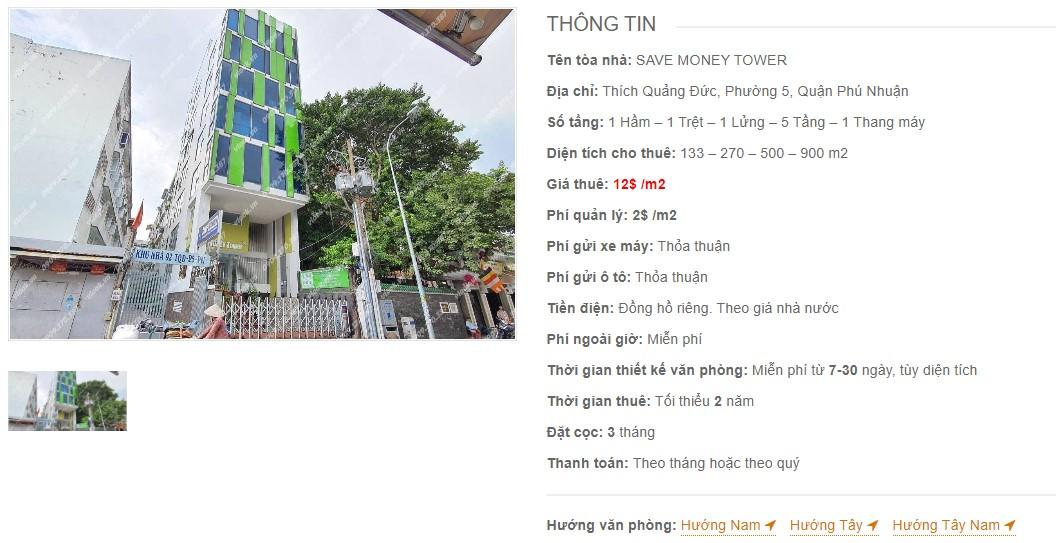 Danh sách công ty thuê văn phòng tại Save Money Tower, Quận Phú Nhuận