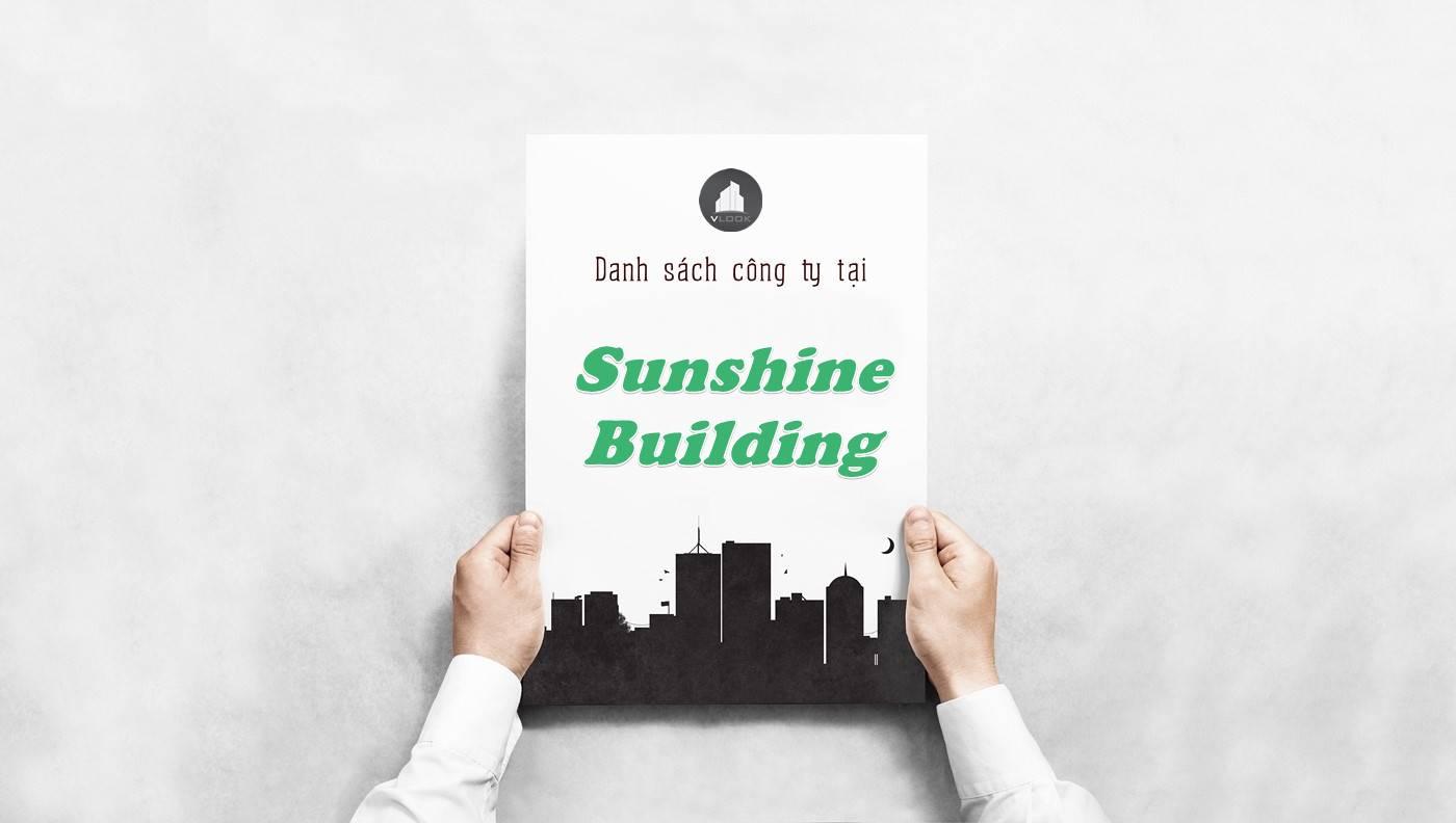 Danh sách công ty thuê văn phòng tại Sunshine Building, Quận 1