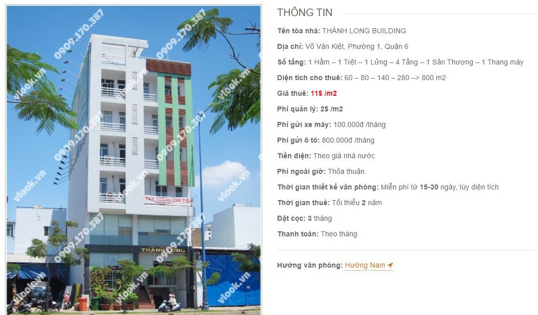 Danh sách công ty thuê văn phòng tại Thành Long Building, Quận 6