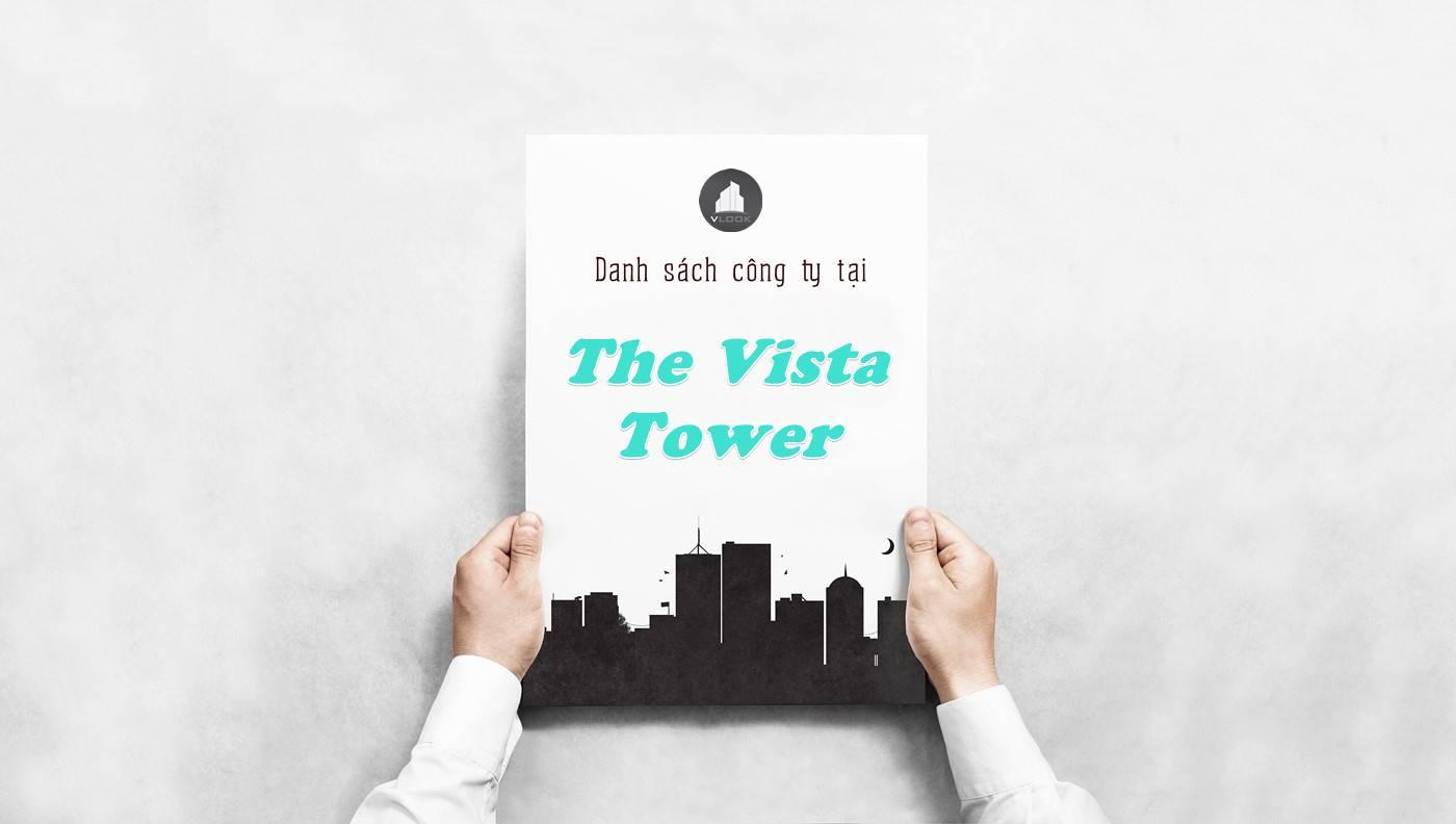 Danh sách công ty thuê văn phòng tại The Vista Tower, Quận 2
