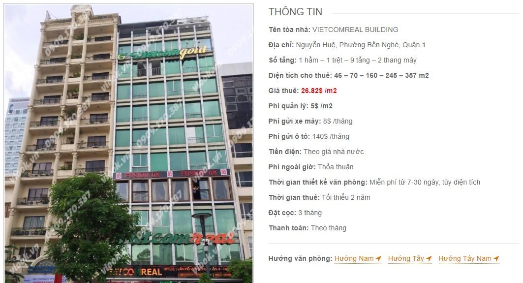 Danh sách công ty thuê văn phòng tại Vietcomreal Building, Quận 1