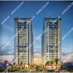 Cao ốc cho thuê văn phòng tòa nhà Luxcity Huỳnh Tấn Phát, Quận 7 - vlook.vn