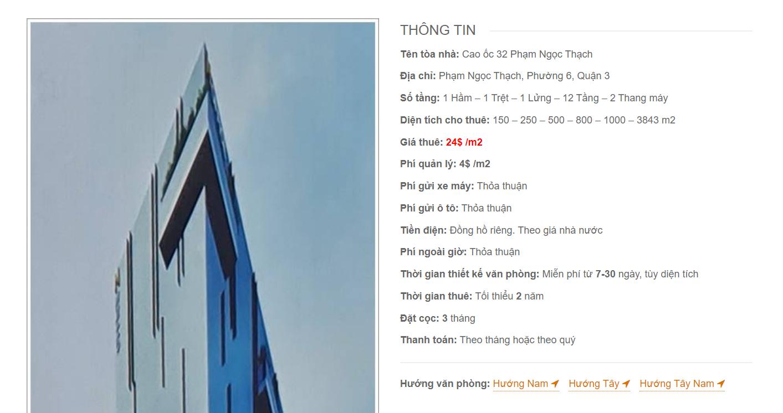 Danh sách công ty thuê văn phòng tại cao ốc 32 Phạm Ngọc Thạch, Quận 3