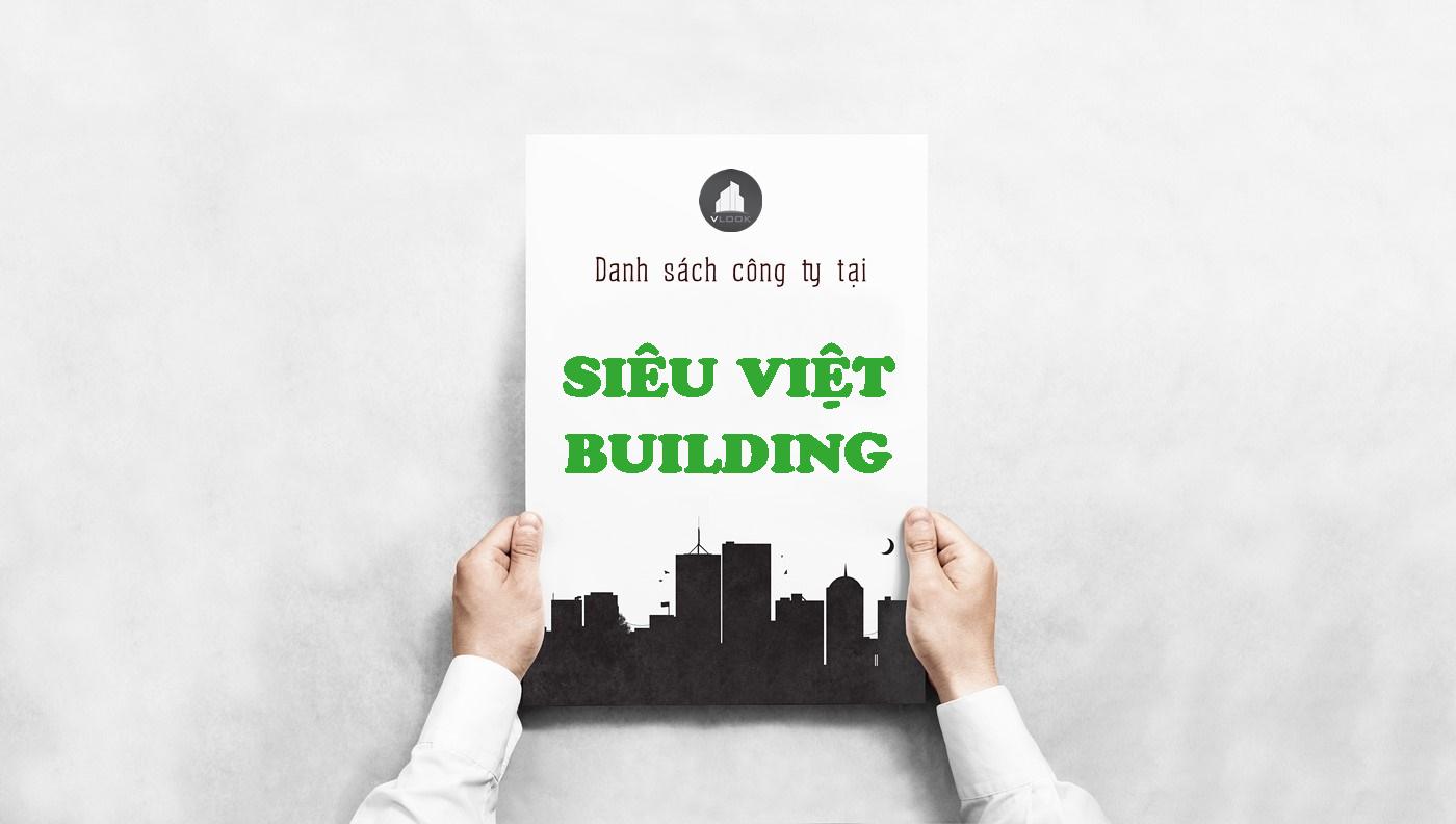 Danh sách công ty thuê văn phòng tại Siêu Việt Building, Trần Cao Vân, Quận 1