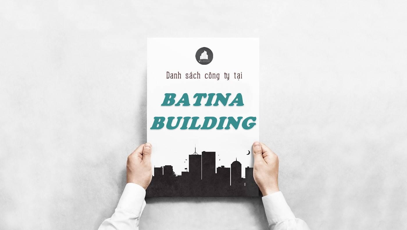 Danh sách công ty thuê văn phòng tại Batina Building, Quận 2