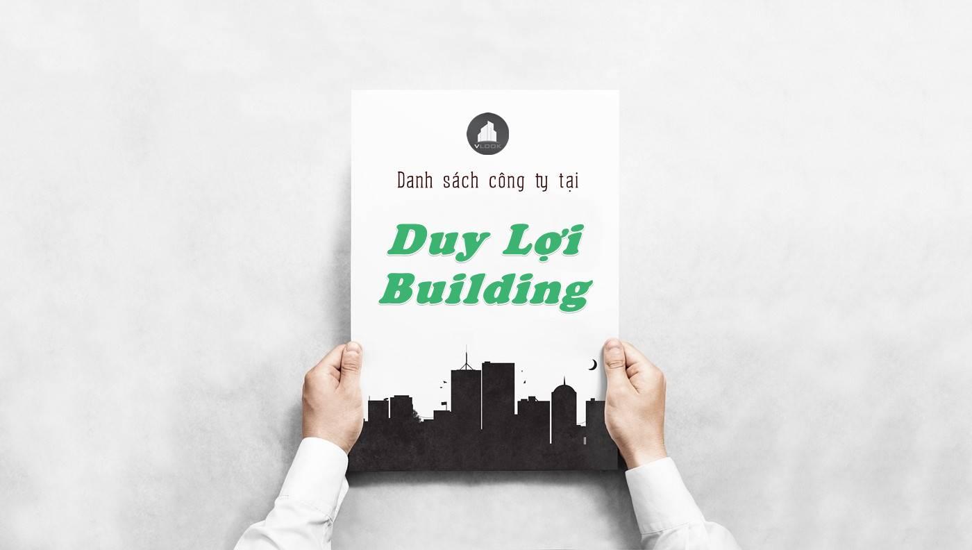 Danh sách công ty thuê văn phòng tại tòa nhà Duy Lợi Building, Quận 10