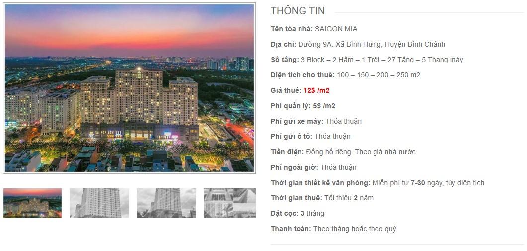 Danh sách công ty thuê văn phòng tại Saigon Mia, Huyện Bình Chánh
