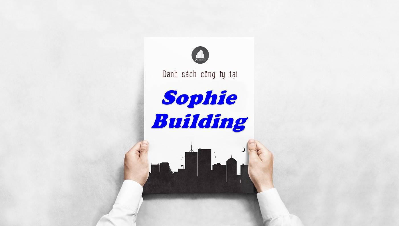 Danh sách công ty thuê văn phòng tại Sophie Building, Quận 9