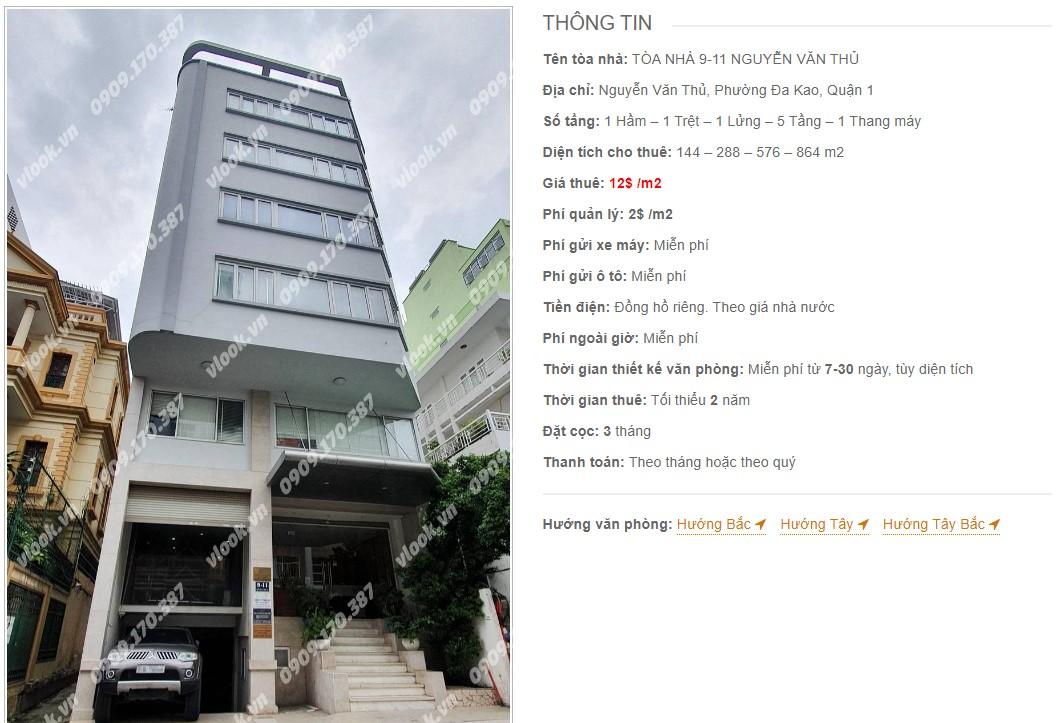 Danh sách công ty thuê văn phòng tại Tòa nhà 9-11 Nguyễn Văn Thủ, Quận 1