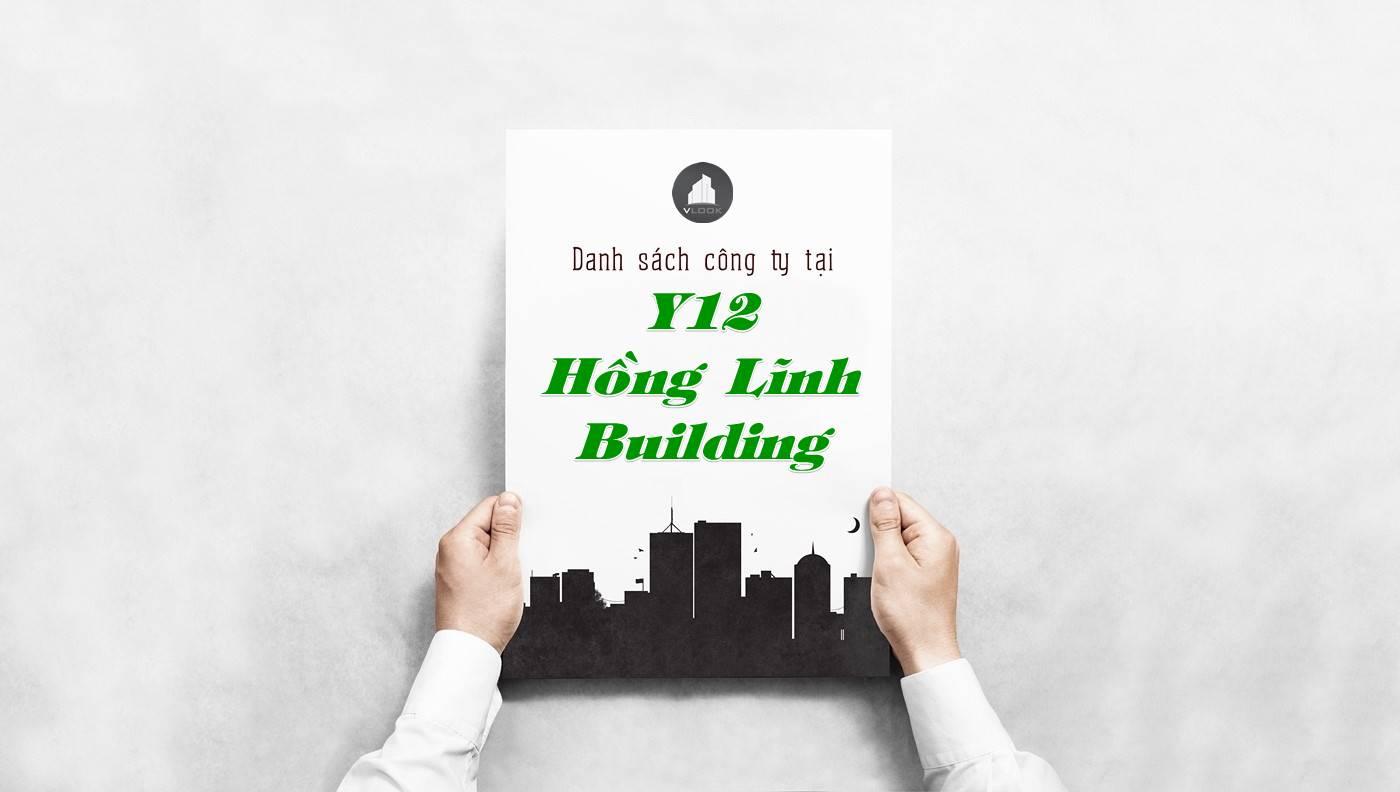 Danh sách công ty thuê văn phòng tại Y12 Hồng Lĩnh Building, Quận 10