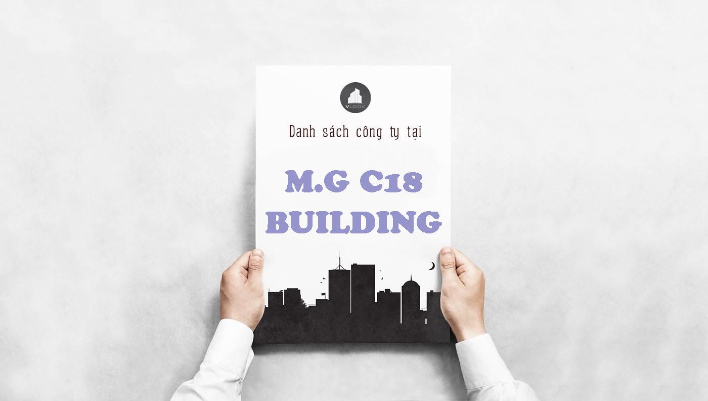 Danh sách công ty thuê văn phòng tại M.G C18 Building, Quận Tân Bình