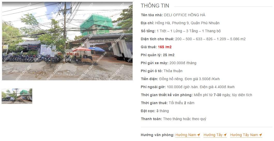 Danh sách công ty thuê văn phòng tại Deli Office Hồng Hà, Quận Phú Nhuận