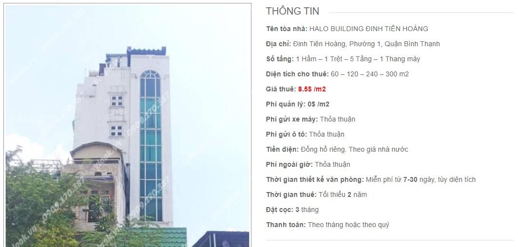Danh sách công ty thuê văn phòng tại Halo Building Đinh Tiên Hoàng, Quận Bình Thạnh