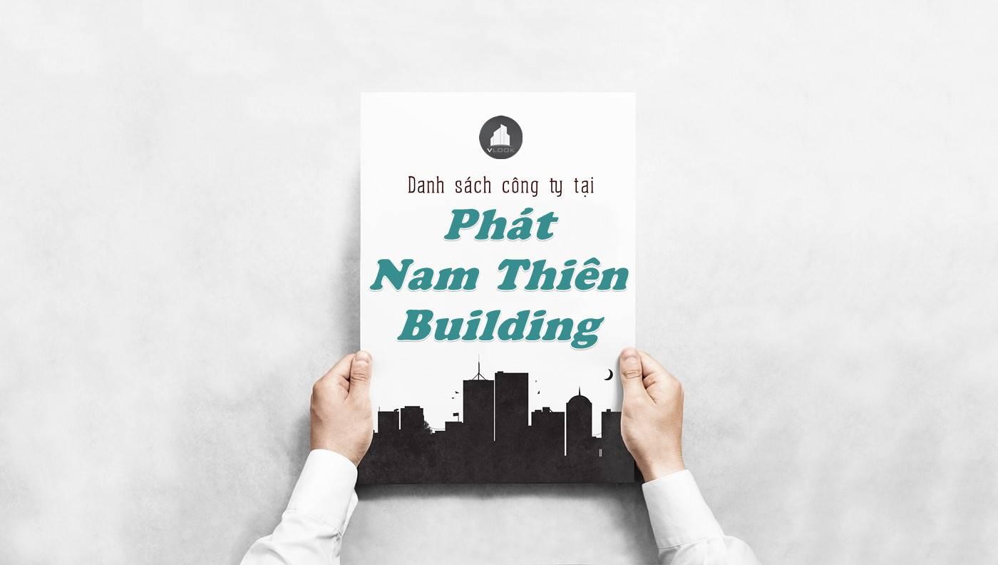 Danh sách công ty thuê văn phòng tại Phát Nam Thiên Building, Quận Thủ Đức