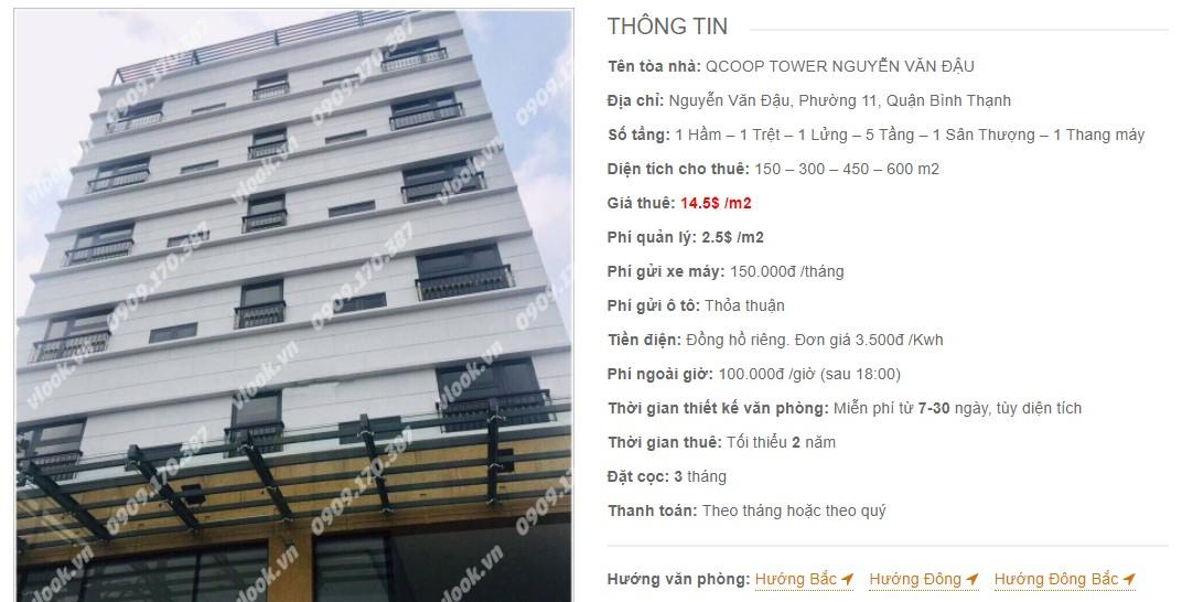 Danh sách công ty thuê văn phòng tại QCoop Tower Nguyễn Văn Đậu, Quận Bình Thạnh
