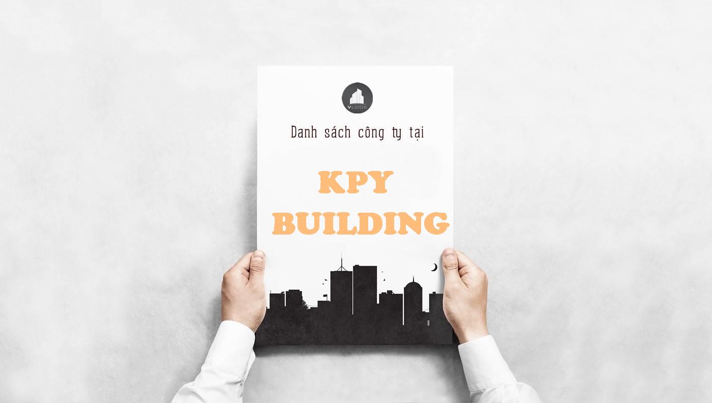 Danh sách công ty thuê văn phòng tại tòa nhàKPY Building, Quận 1