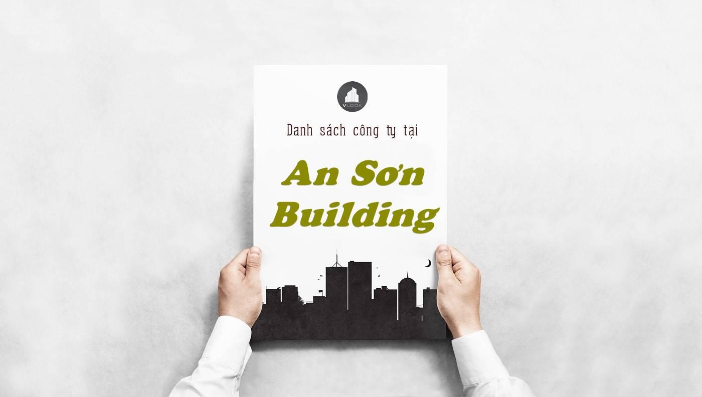 Danh sách công ty tại tòa nhà An Sơn Building, Quận Bình Thạnh