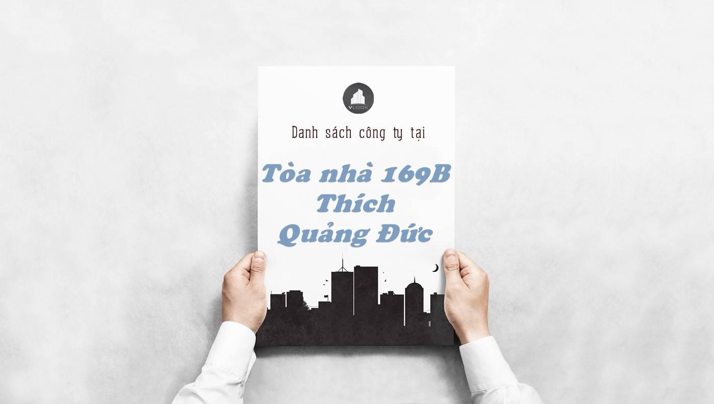 Danh sách công ty thuê văn phòng tại Tòa nhà 169B Thích Quảng Đức, Quận Phú Nhuận