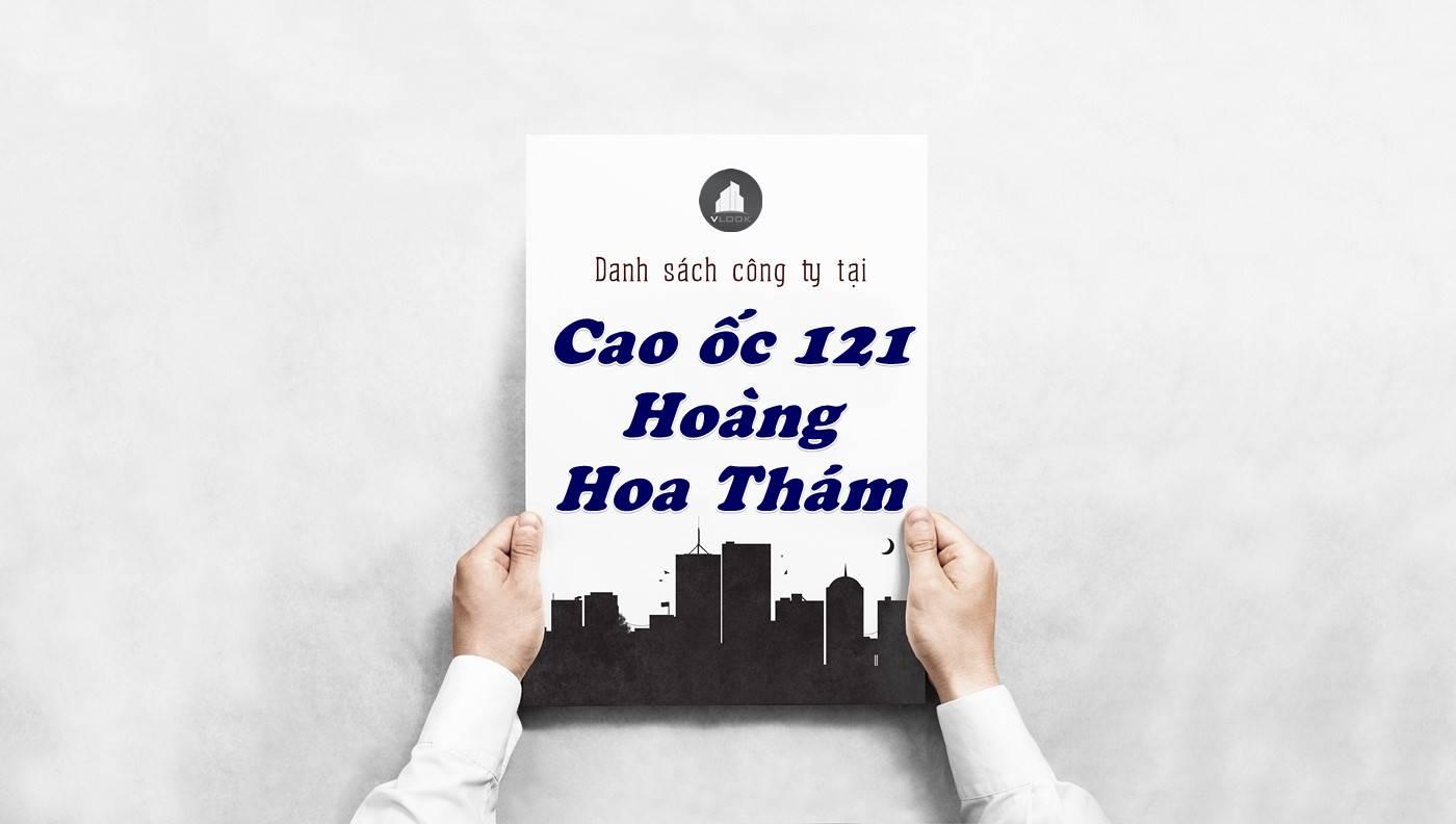 Danh sách công ty thuê văn phòng tại Cao ốc 121 Hoàng Hoa Thám, Quận Bình Thạnh