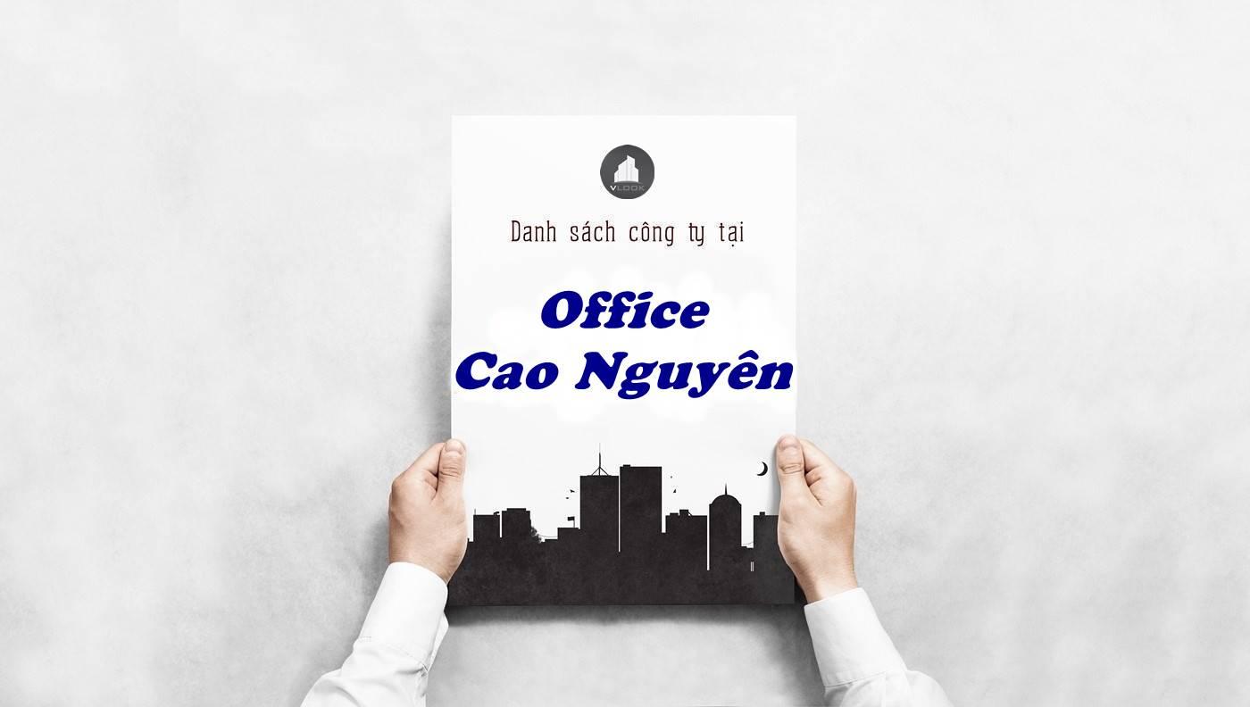 Danh sách công ty thuê văn phòng tại tòa nhà Office Cao Nguyên, Quận Bình Thạnh