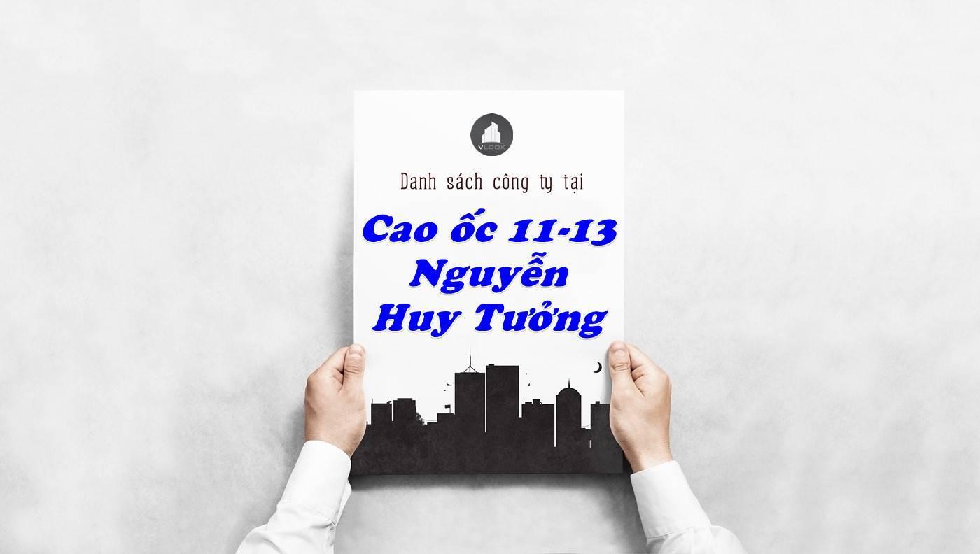 Danh sách công ty thuê văn phòng tại Cao ốc 11-13 Nguyễn Huy Tưởng, Quận Bình Thạnh