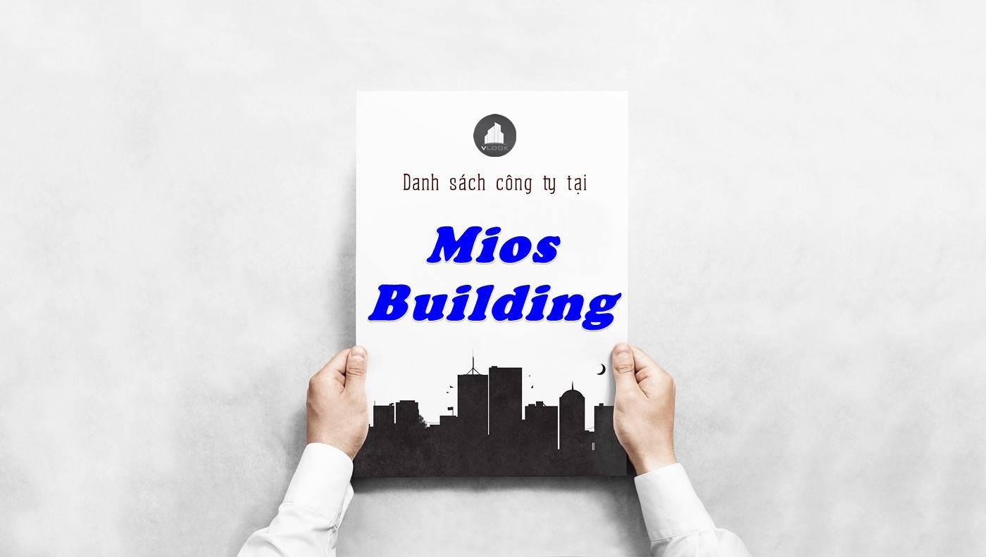 Danh sách công ty thuê văn phòng tại tòa nhà Mios Building, Quận Bình Thạnh