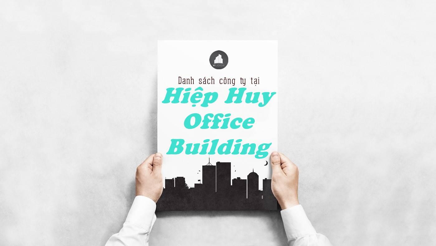 Danh sách công ty thuê văn phòng tại Hiệp Huy Office Building, Quận 1