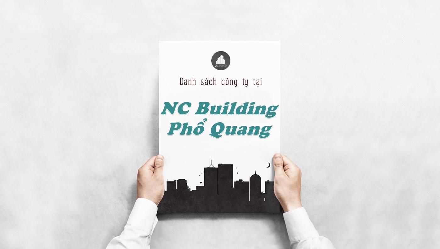 Danh sách công ty tại tòa nhà NC Building Phổ Quang, Quận Tân Bình