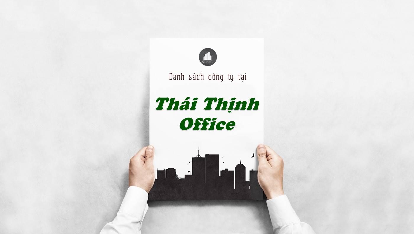 Danh sách công ty thuê văn phòng tại tòa nhà Thái Thịnh Office, Quận Tân Bình
