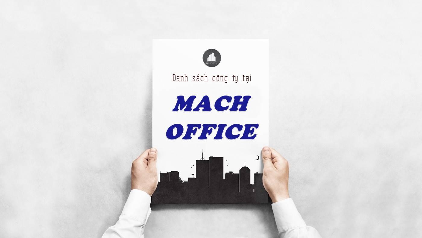 Danh sách công ty thuê văn phòng tại tòa nhà Mach Office, Quận Bình Thạnh