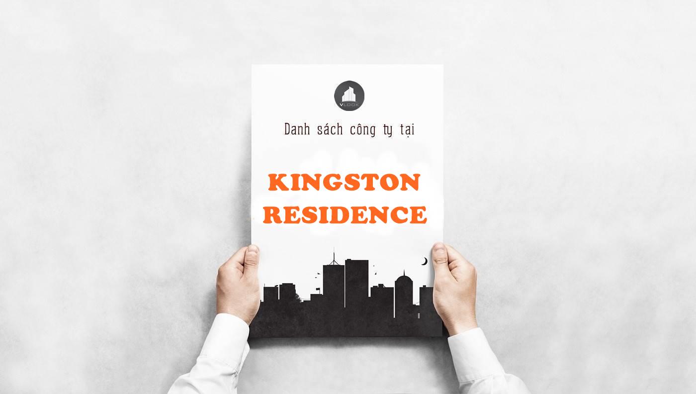 Danh sách công ty thuê văn phòng tại tòa nhà Kingston Residence, Hoàng Văn Thụ, Quận Phú Nhuận