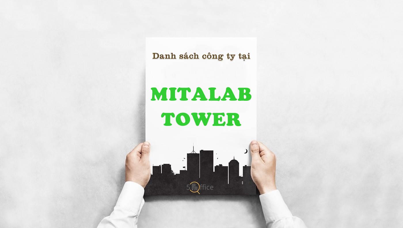 Danh sách công ty thuê văn phòng tại tòa nhà Mitalab Tower, Cộng Hòa, Quận Tân Bình