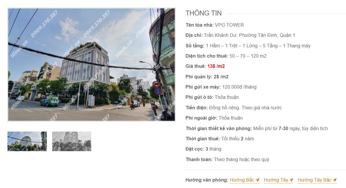Danh sách công ty thuê văn phòng tại VPG Tower, Trần Khánh Dư, Quận 1