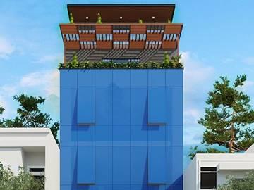 Cao ốc văn phòng cho thuê tòa nhà An Tâm Office Building, Nguyễn Gia Trí, Quận Bình Thạnh - vlook.vn