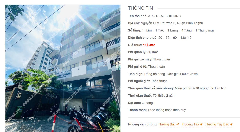 Danh sách công ty thuê văn phòng tại tòa nhà Arc Real Building, Nguyễn Duy, Quận Bình Thạnh