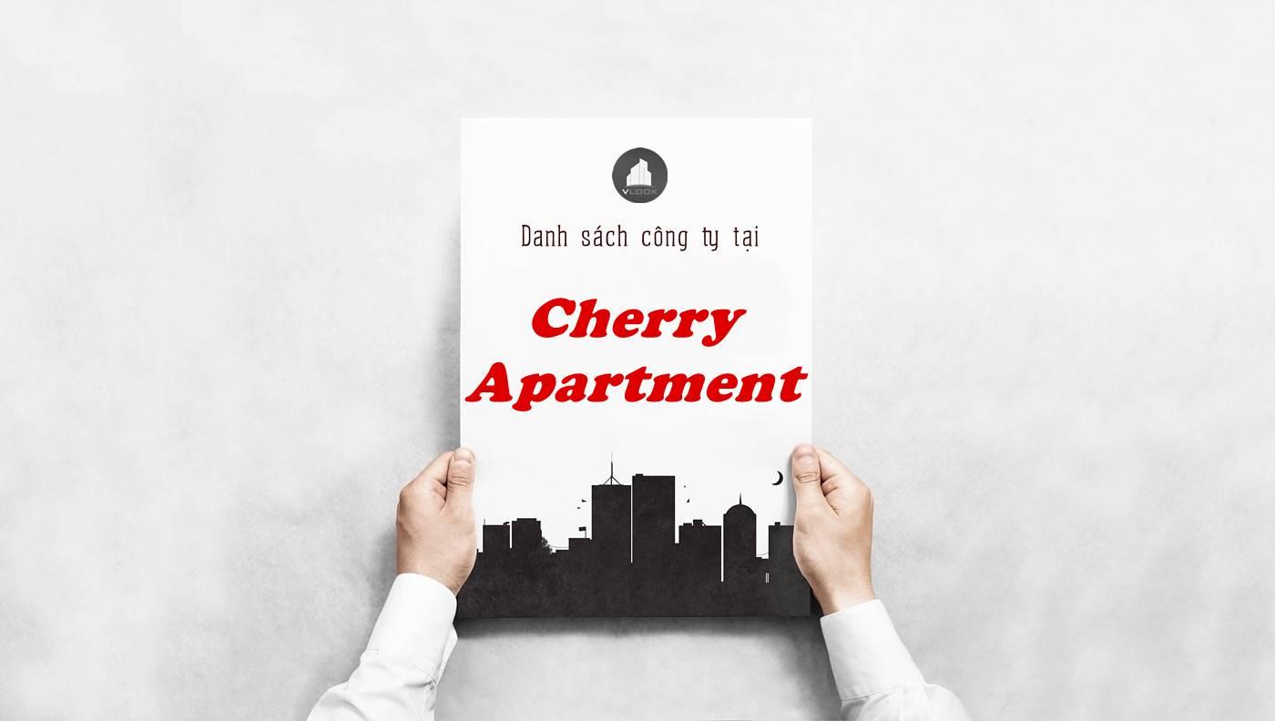 Danh sách công ty tại tòa nhà Cherry Apartment, Quận Tân Bình
