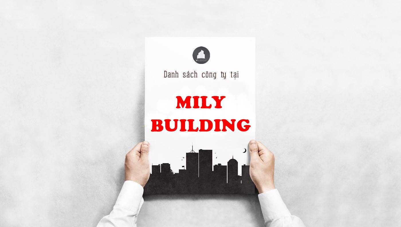 Danh sách công ty thuê văn phòng tại tòa nhà Mily Building, Cách Mạng Tháng Tám, Quận 3