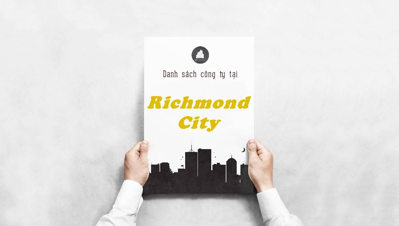 Danh sách công ty thuê văn phòng tại tòa nhà Richmond City, Quận Bình Thạnh