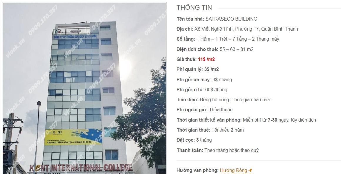 Danh sách công ty thuê văn phòng tại tòa nhà Satraseco Building, Quận Bình Thạnh