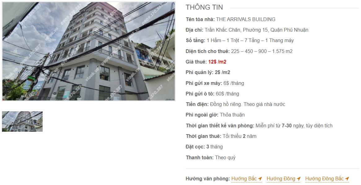 Danh sách công ty thuê văn phòng tại The Arrivals Building, Quận Phú Nhuận