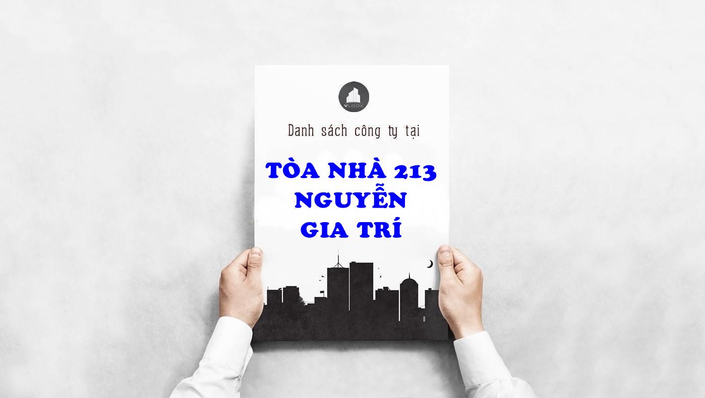 Danh sách công ty thuê văn phòng tại Tòa nhà 213 Nguyễn Gia Trí, Quận Bình Thạnh