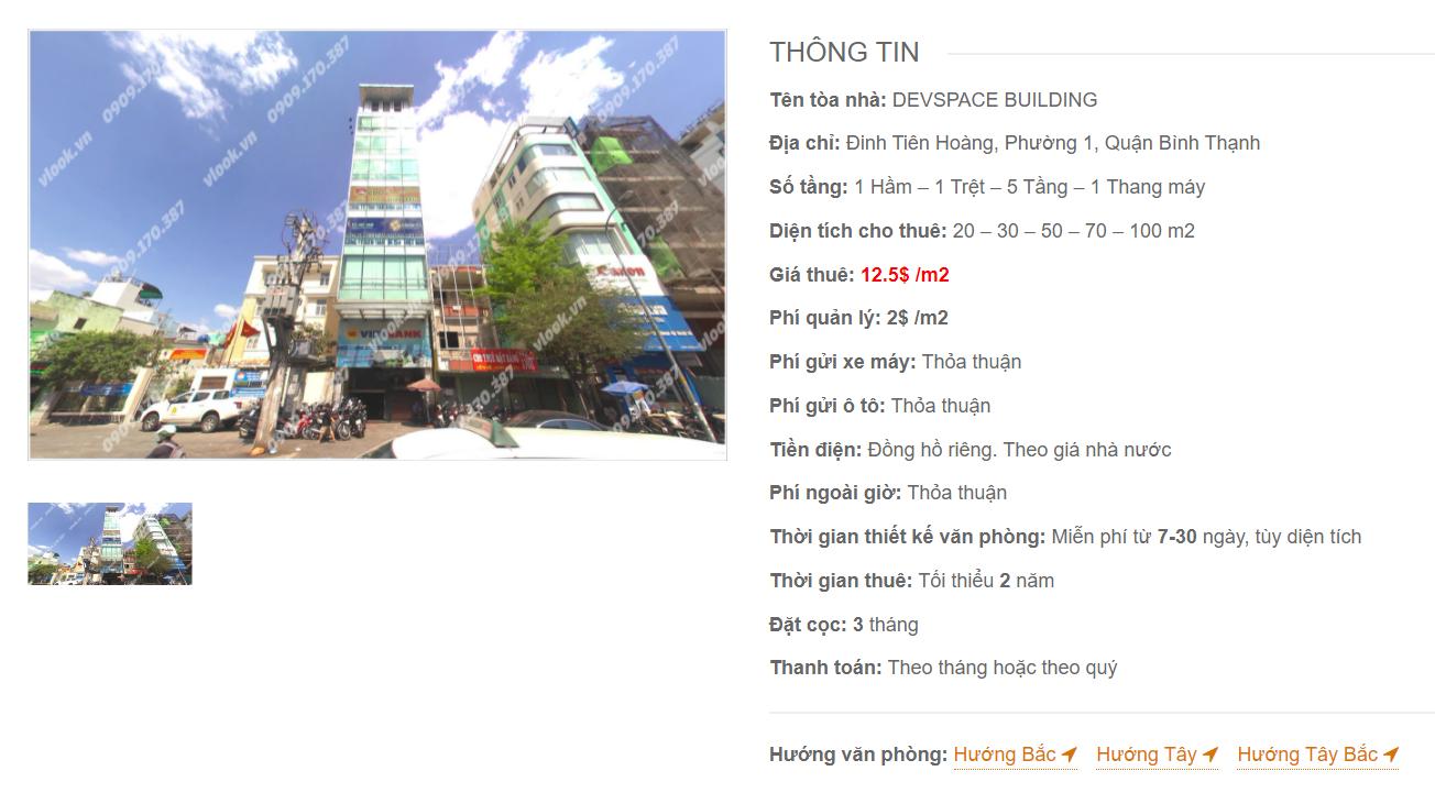 Danh sách công ty thuê văn phòng tại tòa nhà Devspace Building, Đinh Tiên Hoàng, Quận Bình Thạnh