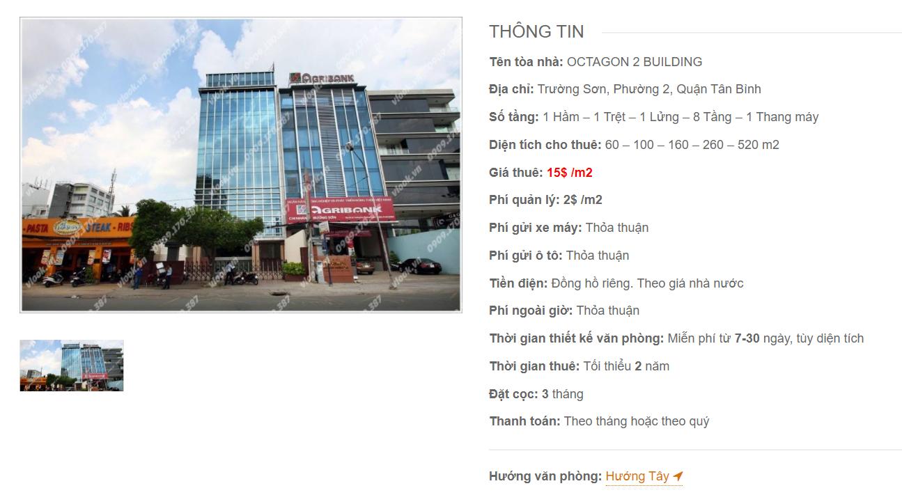 Danh sách công ty thuê văn phòng tại tòa nhà Octagon 2 Building, Trường Sơn, Quận Tân Bình