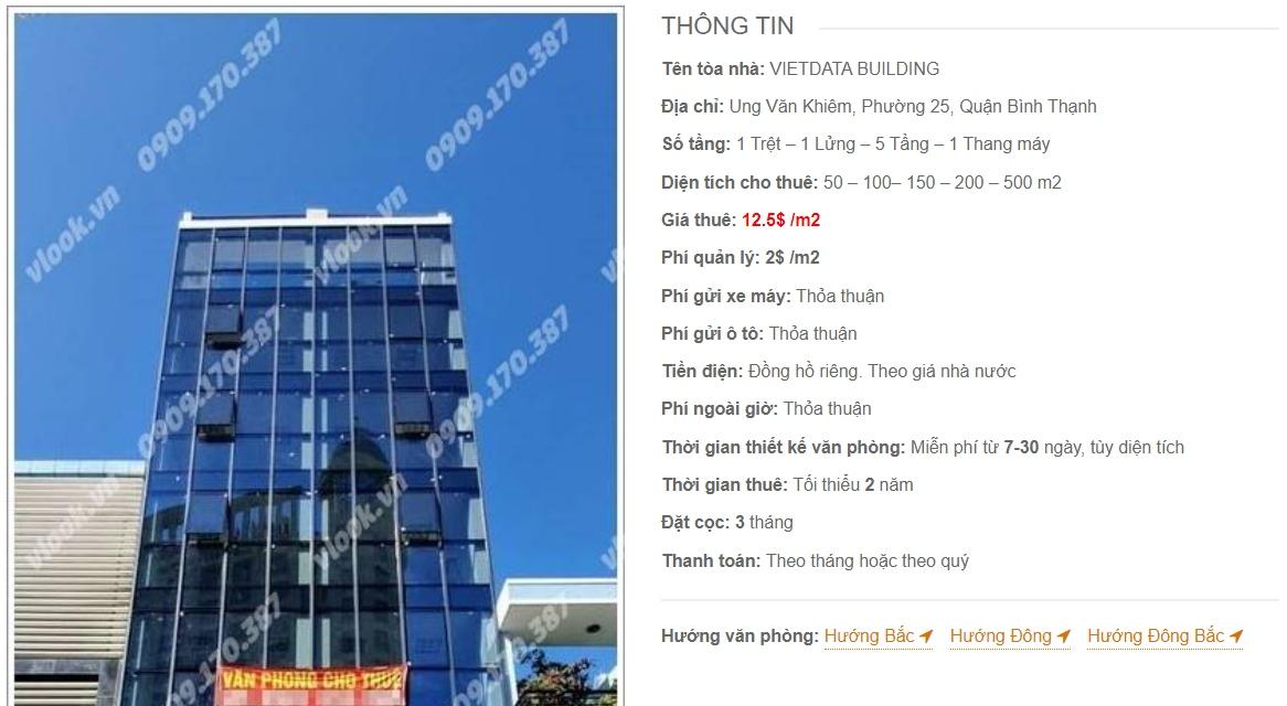 Danh sách công ty thuê văn phòng tại tòa nhà Vietdata Building, Quận Bình Thạnh