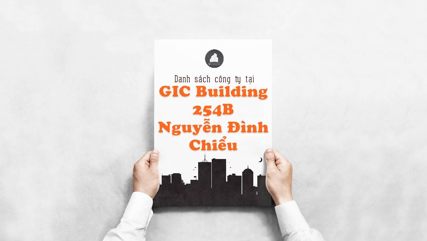 Danh sách công ty tại tòa nhà GIC Building 254B Nguyễn Đình Chiểu, Quận 3